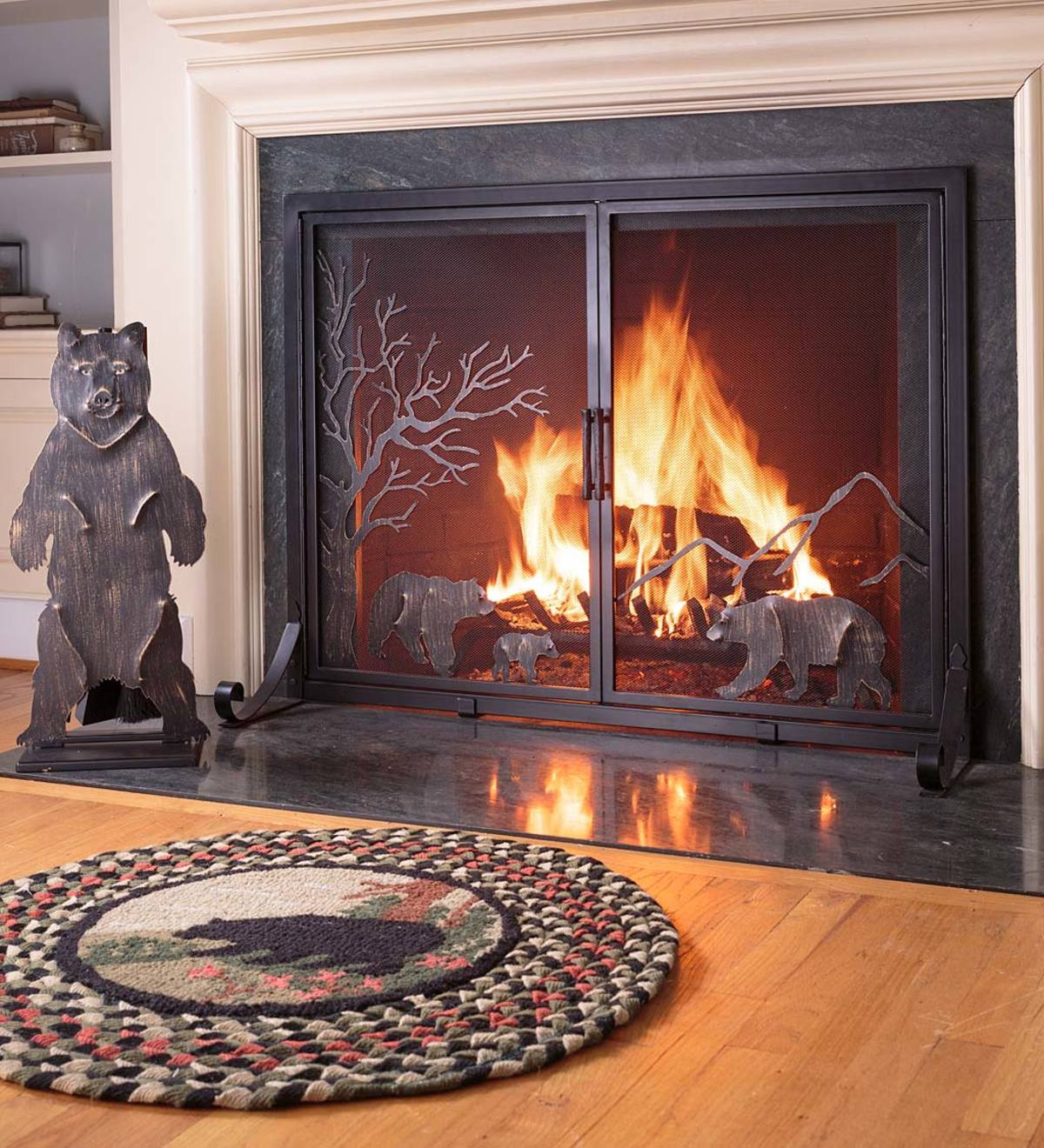 Image result for fireplace screen