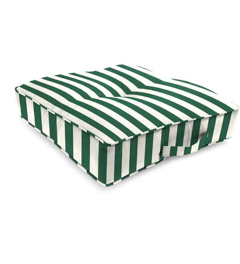 Sunbrella 174 Classic Tufted Floor Cushion With Handle 20