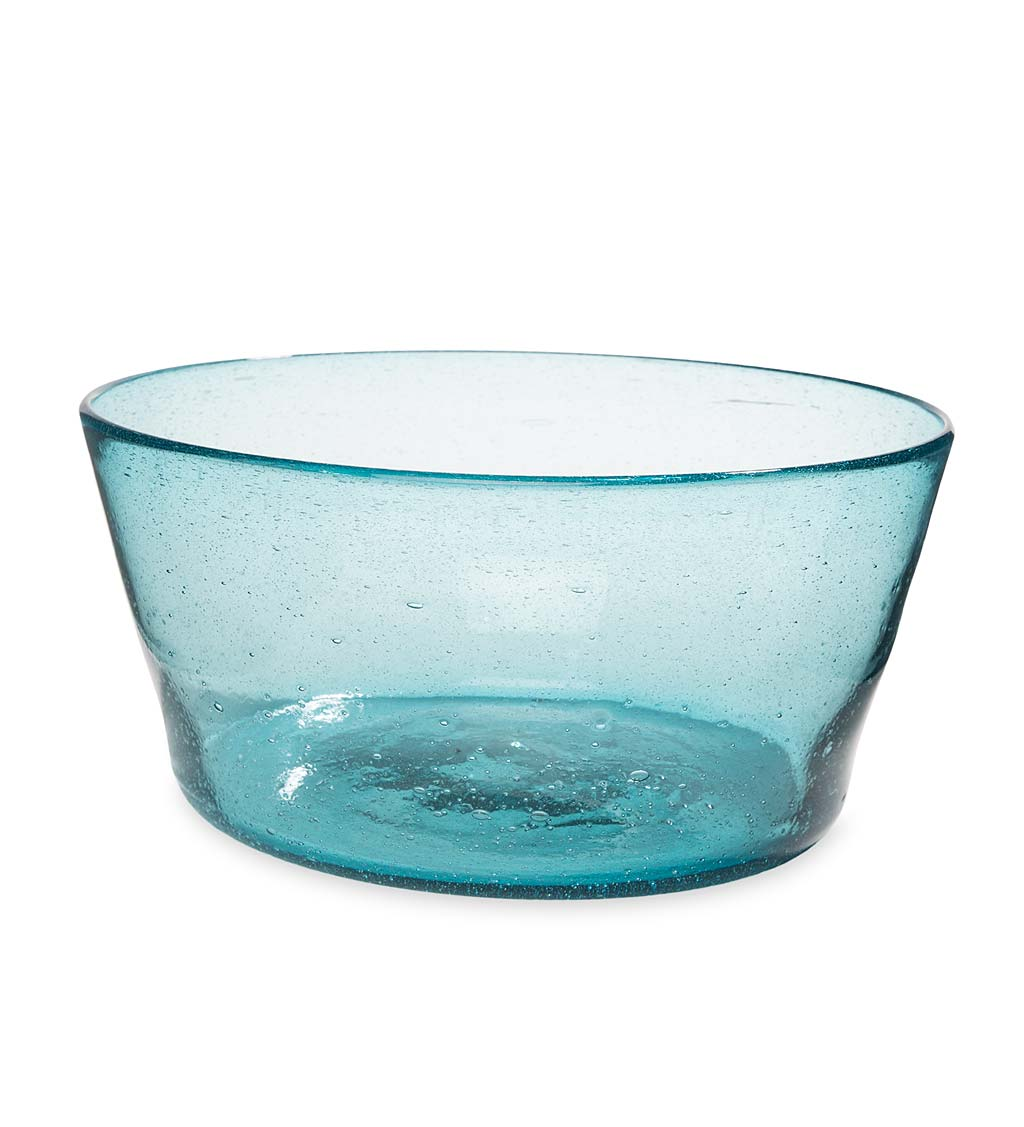 Bubble Recycled Glass Serving Bowl