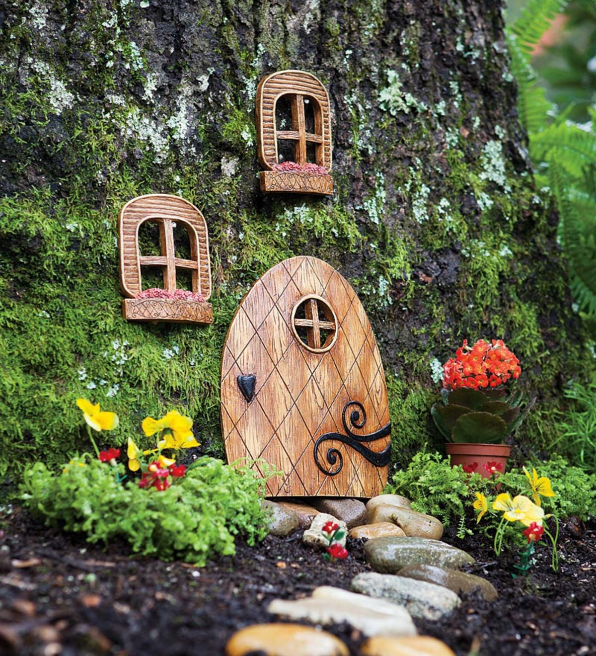 Fairy Garden Elf Door | PlowHearth