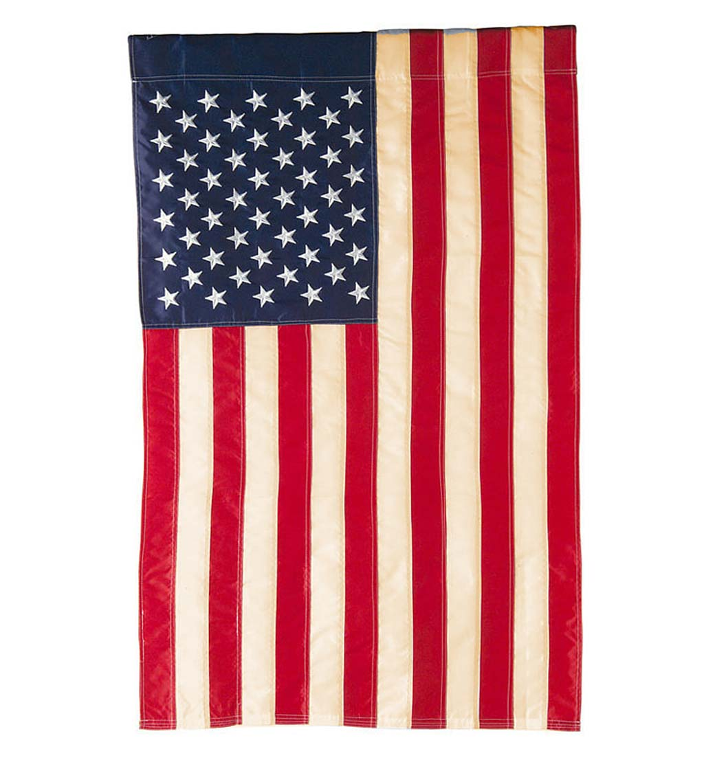 Tea-Stained Americana Old Glory Garden Flag