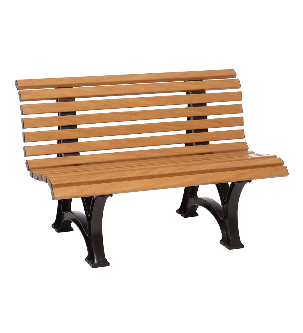 Large 3-Seater Weatherproof PVC Garden Bench swatch image