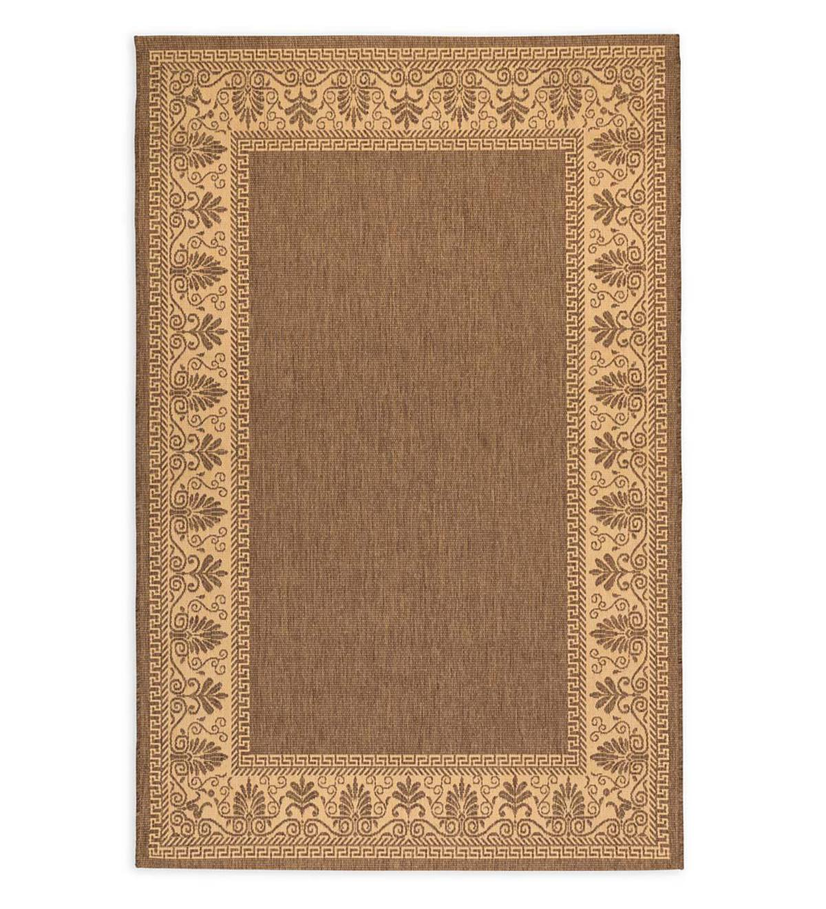 "Veranda Border Indoor/Outdoor Rug, 5'3""x 7'6"" - Cocoa"