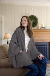 Fleece Cuddle Cape With Pockets