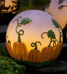 Glowing 3D Pumpkin Patch Globe