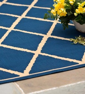 "Lattice Surry Rug, 1'9""x 3'9"""
