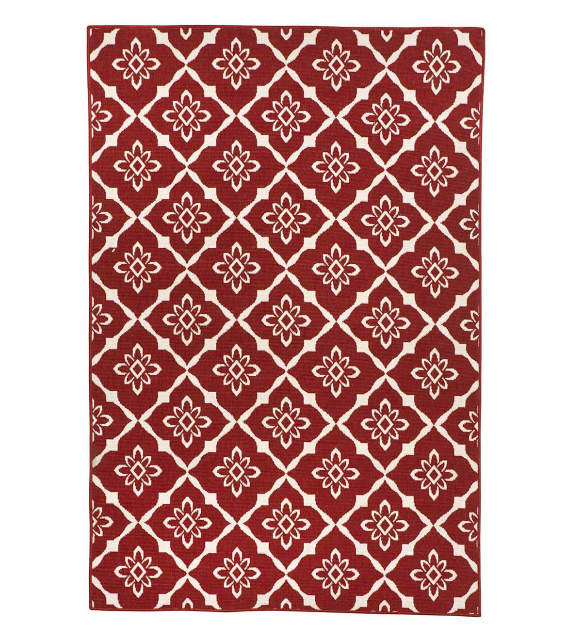 "Sale! Lexington Trellis Rug, 3'7""x 5'6"" - Red"