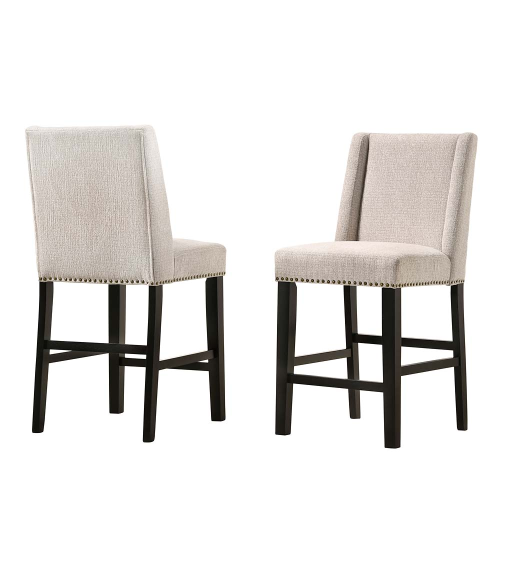 "Upholstered Chair-Style 24"" Counter Stools, Set of 2 swatch image"