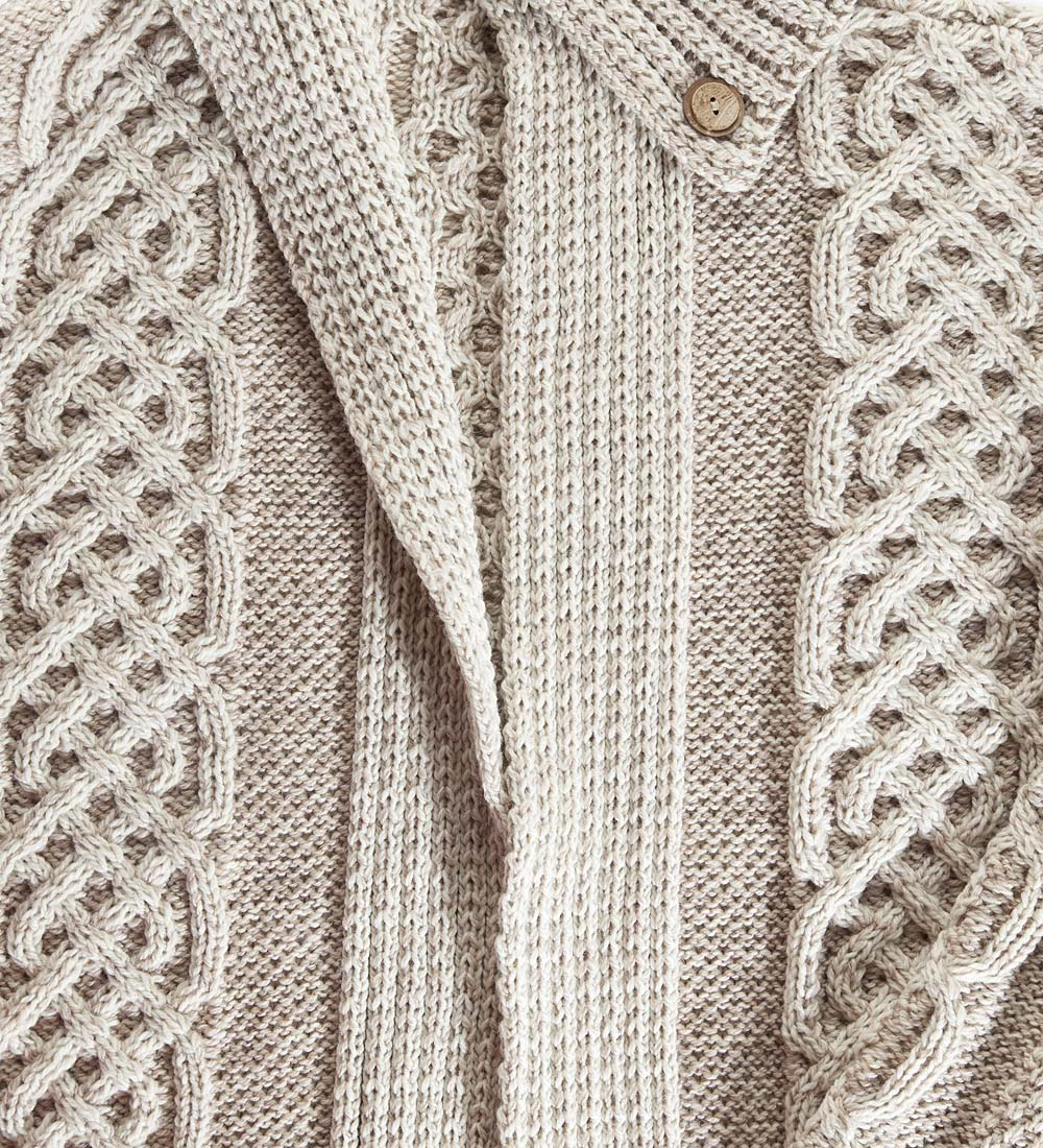 Women's Irish Long Cardigan in Merino Wool swatch image