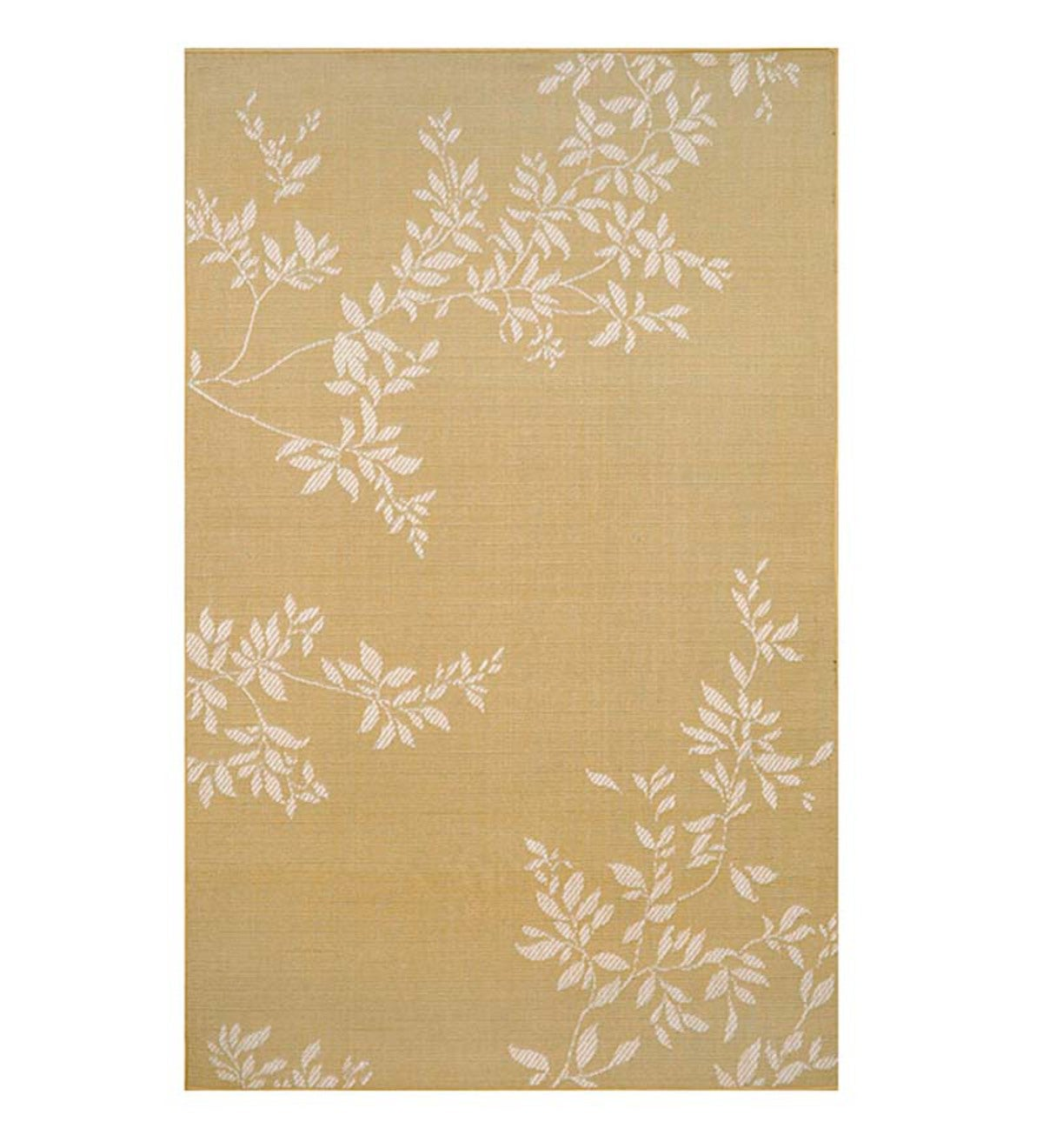 "Leafy Vines Indoor/Outdoor Polypropylene Rug, 23""x 35"""