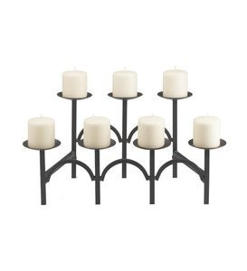 Iron Two-Tiered Fireplace Candelabra