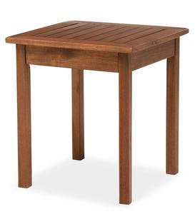 Eucalyptus Wood Side Table, Lancaster Outdoor Furniture Collection - Natural