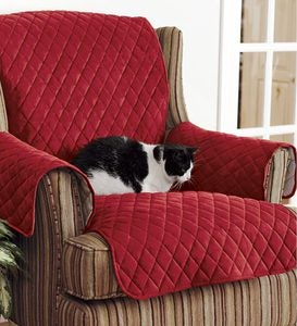 Personalized Polyester Pet Loveseat Protective Cover - Red