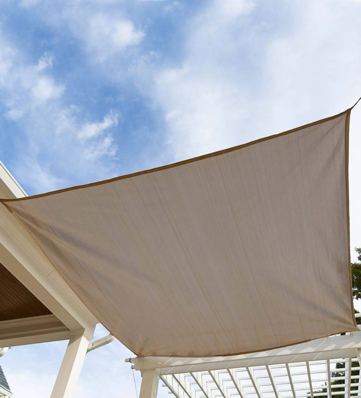 Sunblock Square Sail Shade - Mocha