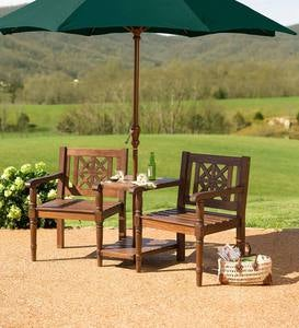 Eucalyptus Tete-a-Tete Set With Detachable Chairs