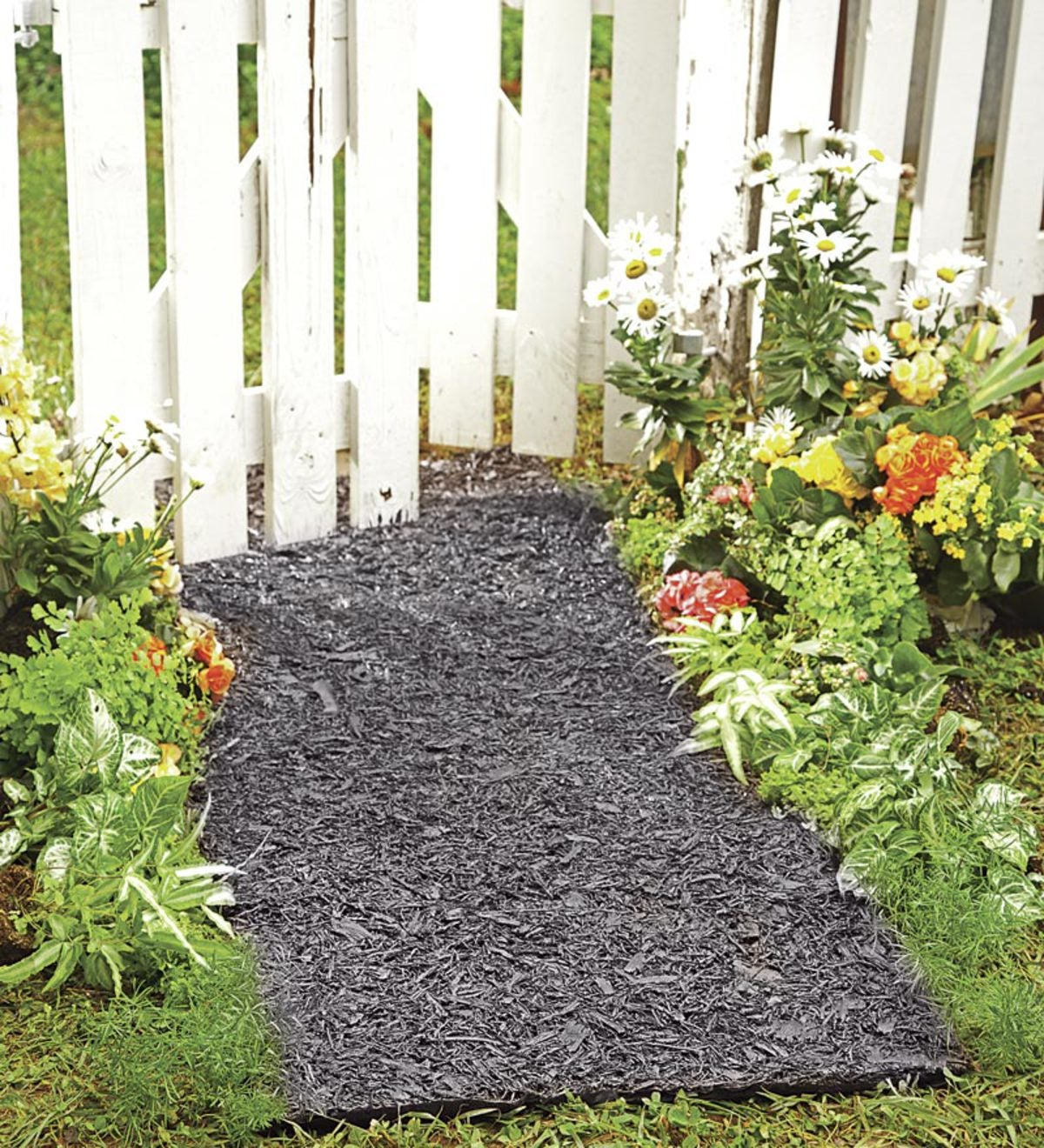 permanent mulch pathway plowhearth