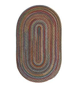 Blue Ridge Wool Oval Braided Rug, 5' x 8' - Black Multi