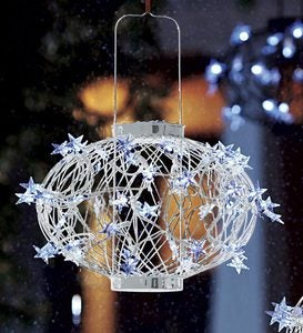 Small White Solar Star Lantern