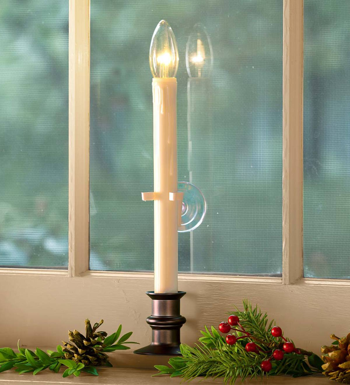 Suction Cup Window Candle with Auto Timer