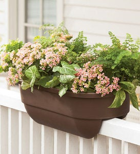"30""L Polypropylene Railing Planters For 2""x 4""Porch Or Deck"