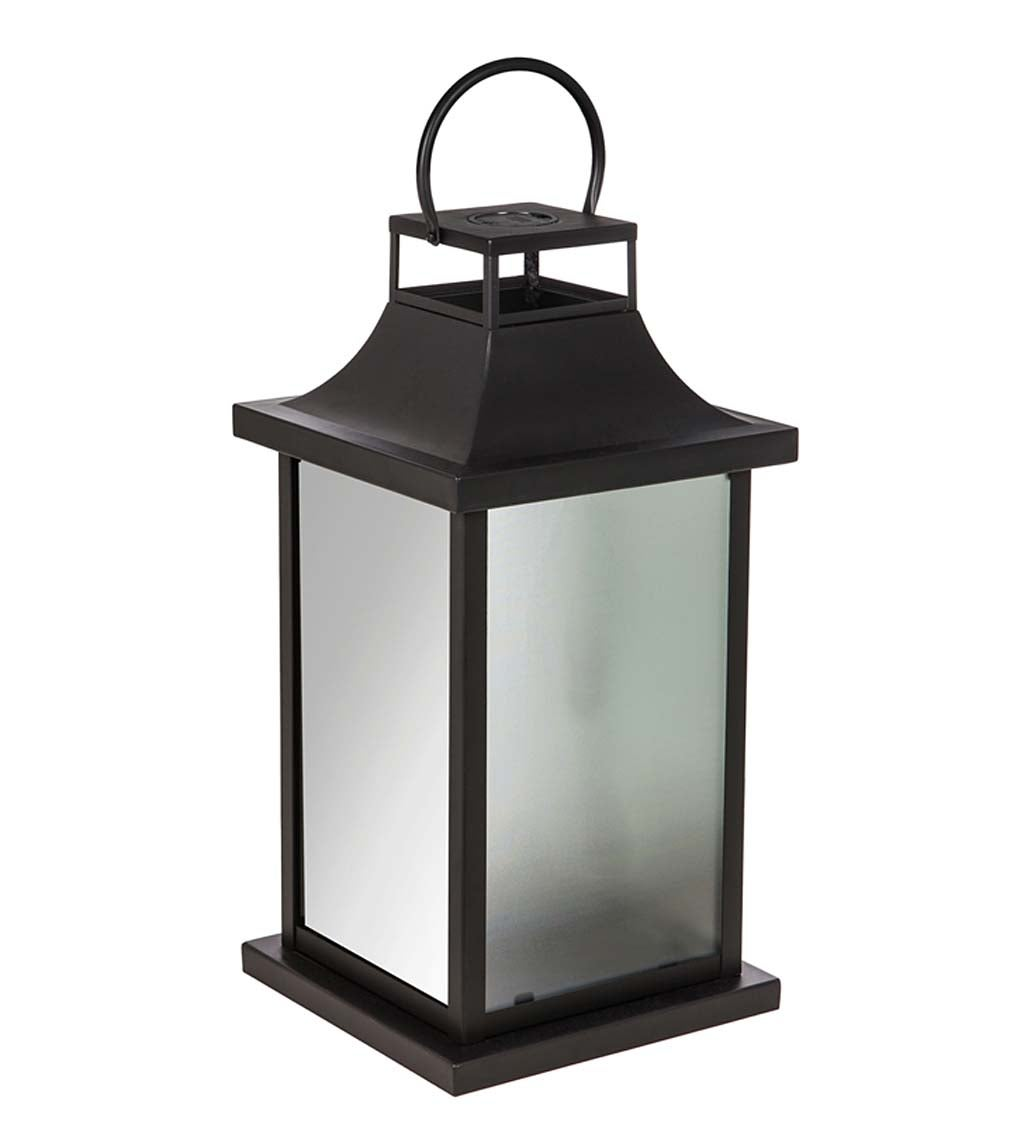 Oversized Million Lights Glass and Metal Lantern