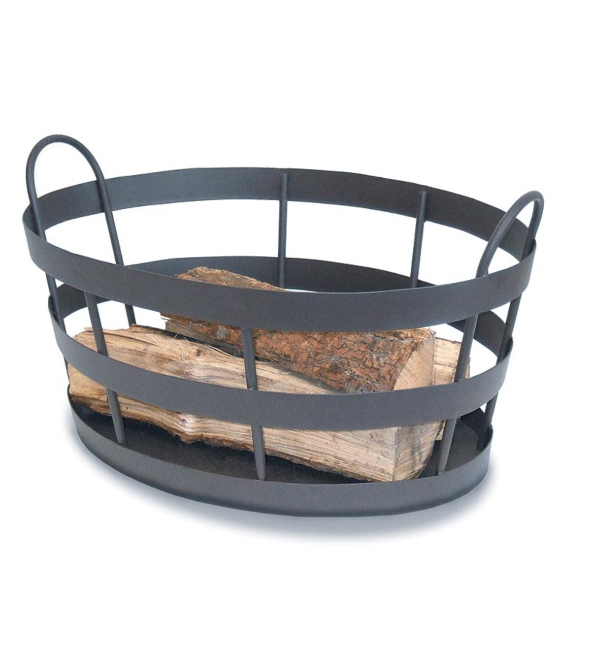 Wrought Iron Craftsman Shaker-Style Indoor/Outdoor Log Bin