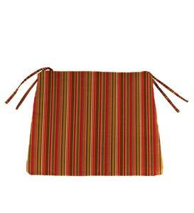 Sunbrella® Classic Chair And Adirondack Seat Cushion with Ties, 20½″ x 19″ x 2½″ - Cherry Stripe