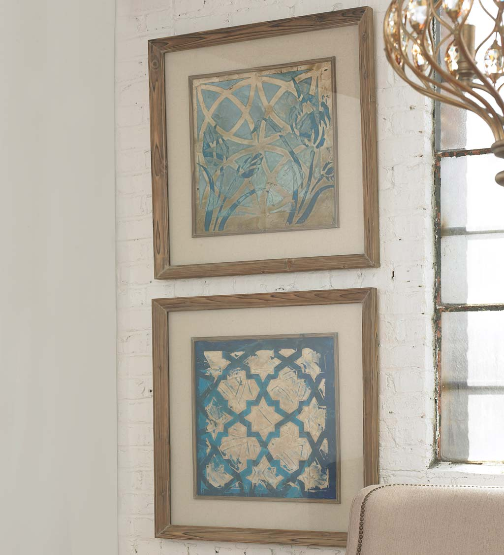 Stained Glass Indigo Prints, Set of 2