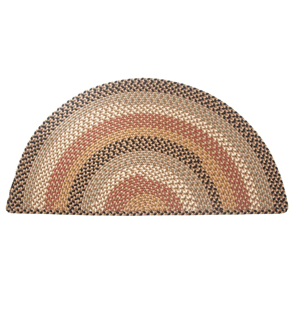 Braided Polypro Roanoke Half Round Rug , 2' x 4'