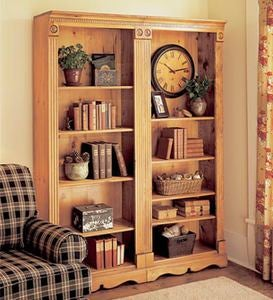 Solid Pine Country Bookcase, Made in USA