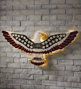 Lighted American Eagle Wall Art