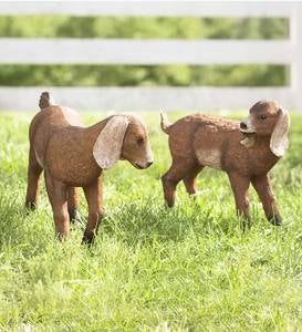 Baby Goat Garden Statues, Set of 2