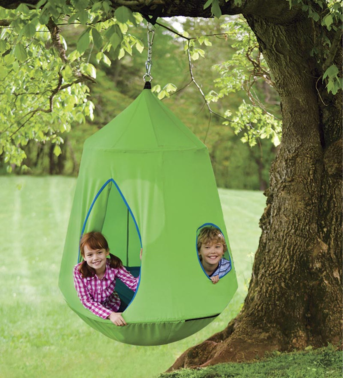 HugglePod® HangOut® with LED String Lights - Green