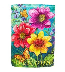 Summer Flowers Welcome Garden Flag