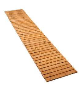 8' Portable Roll-Out Straight Hardwood Pathway