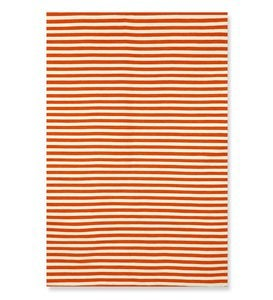 "7'6""x 9'6""Sorrento Mini Stripe Indoor/Outdoor Rug - Black"