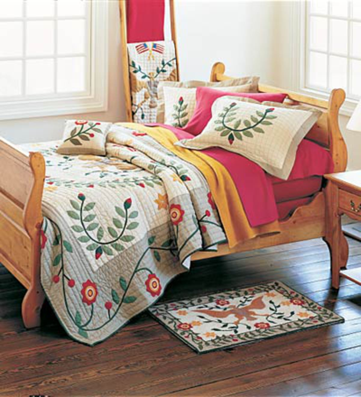Sleigh Bed And Nightstand