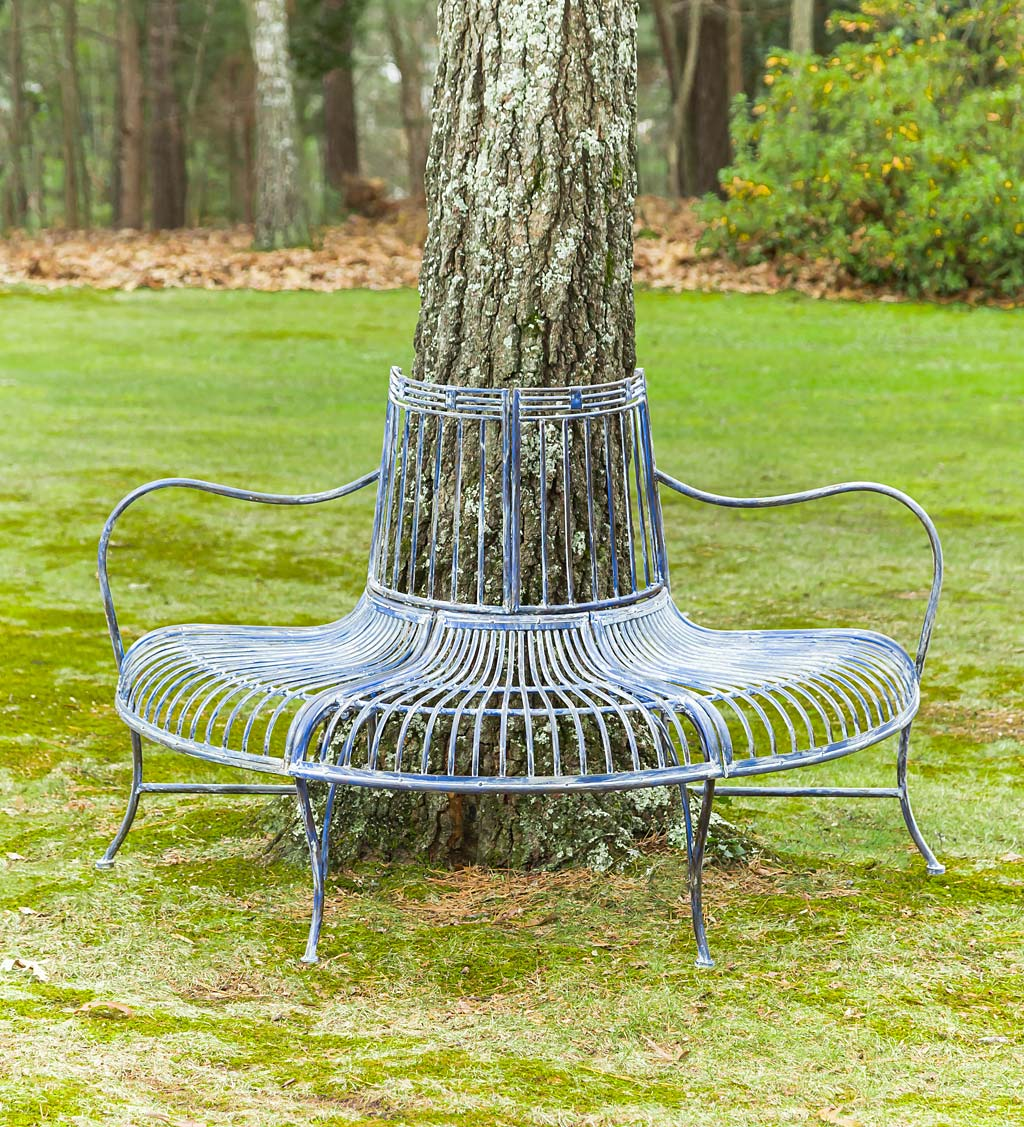 Metal Curved Wrap-Around Tree Bench