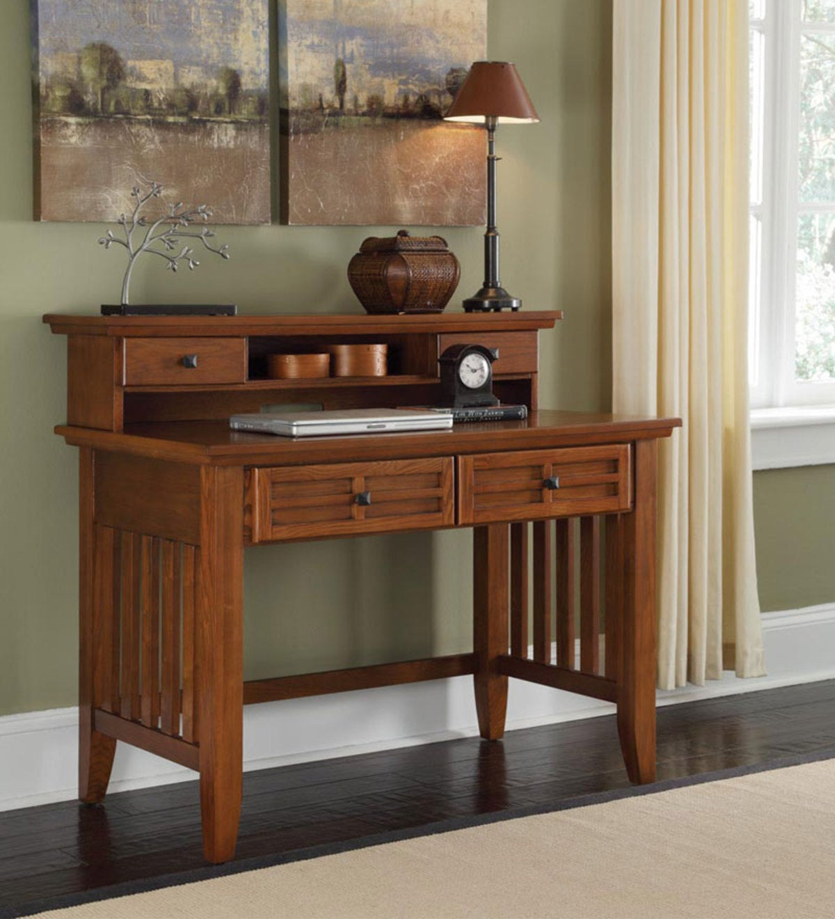 Mission Style Arts And Crafts Home Office Desk Hutch