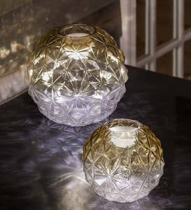 Glowing Glass Globe with Moving Light