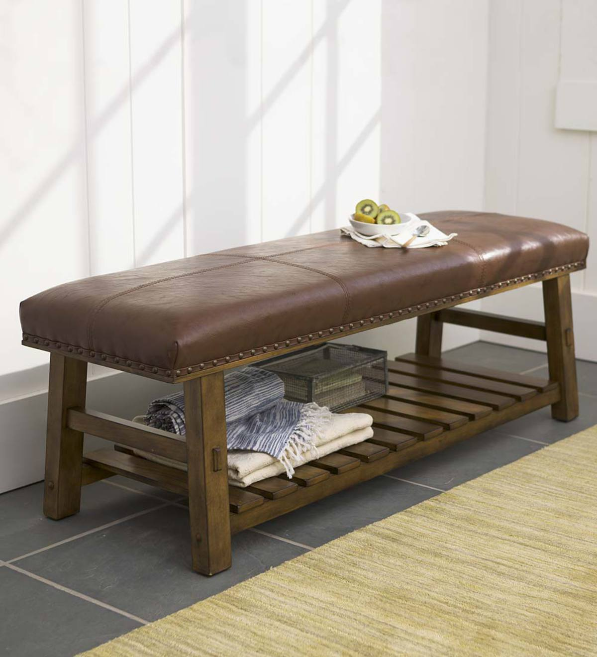Canyon Leather Bench