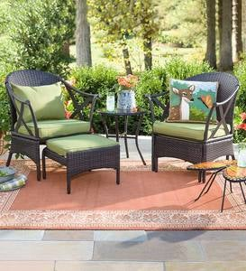 Wicker Patio Furniture Set with Cushions