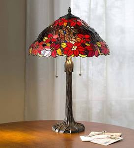 Poinsettia Tiffany Table Lamp