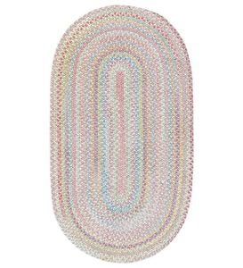 4'x6' Cutting Garden Oval Braided Rug - Buttercup
