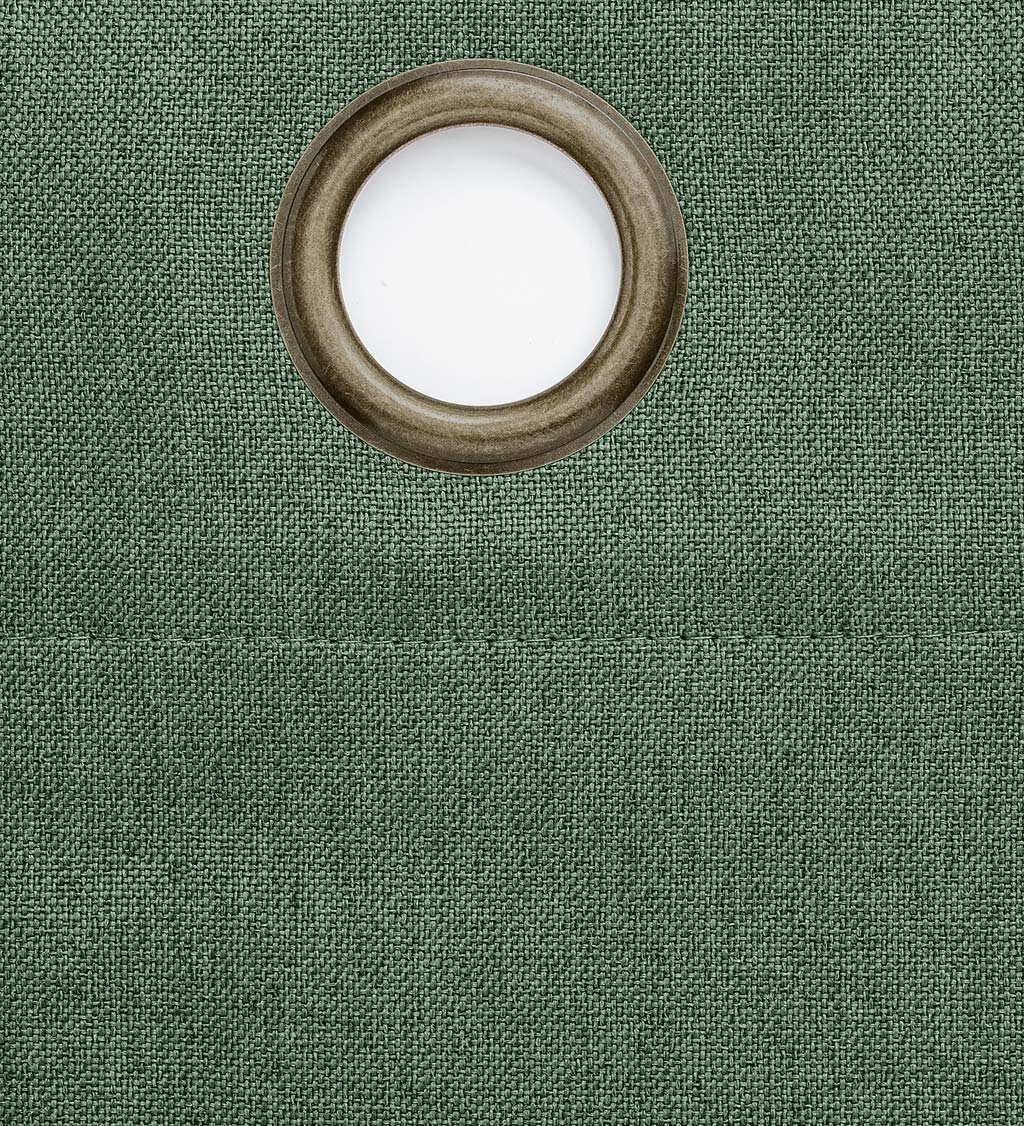 "Madison Double-Blackout Grommet Patio Panel with Wand, 106""W x 84""L"
