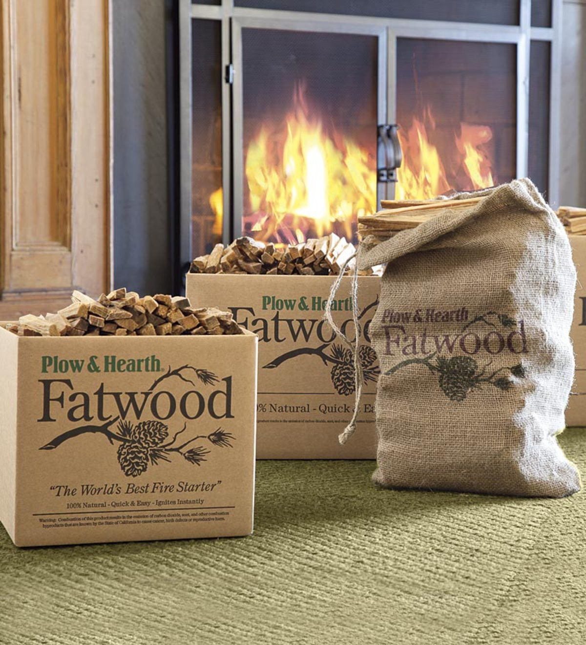 Fatwood Fire-Starter, 35 lb. Box