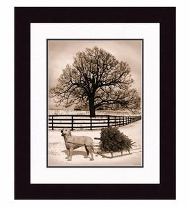 Winter's Day Dog Print by Tina Poochino
