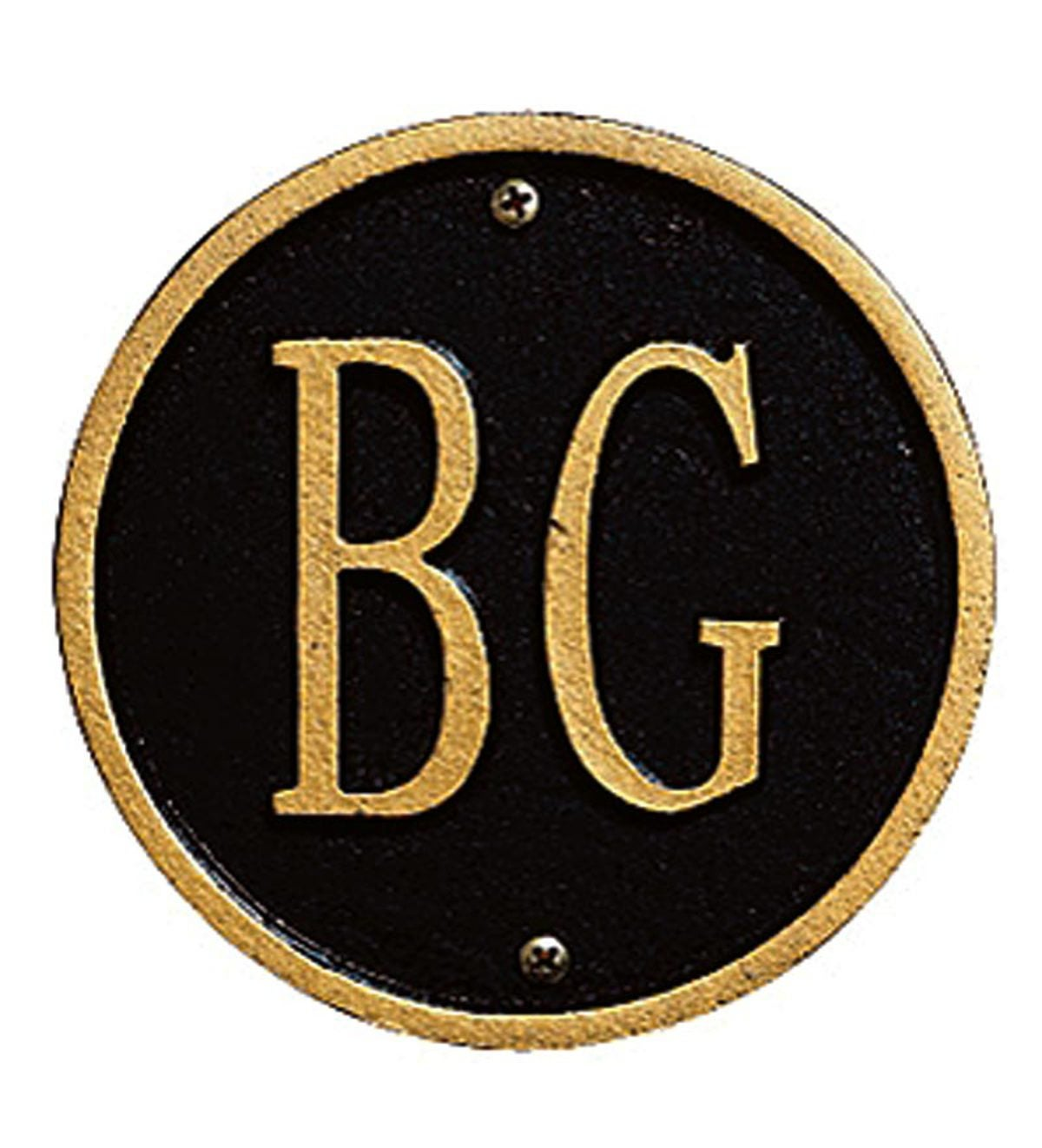 Beaded Lawn Plaque - Black