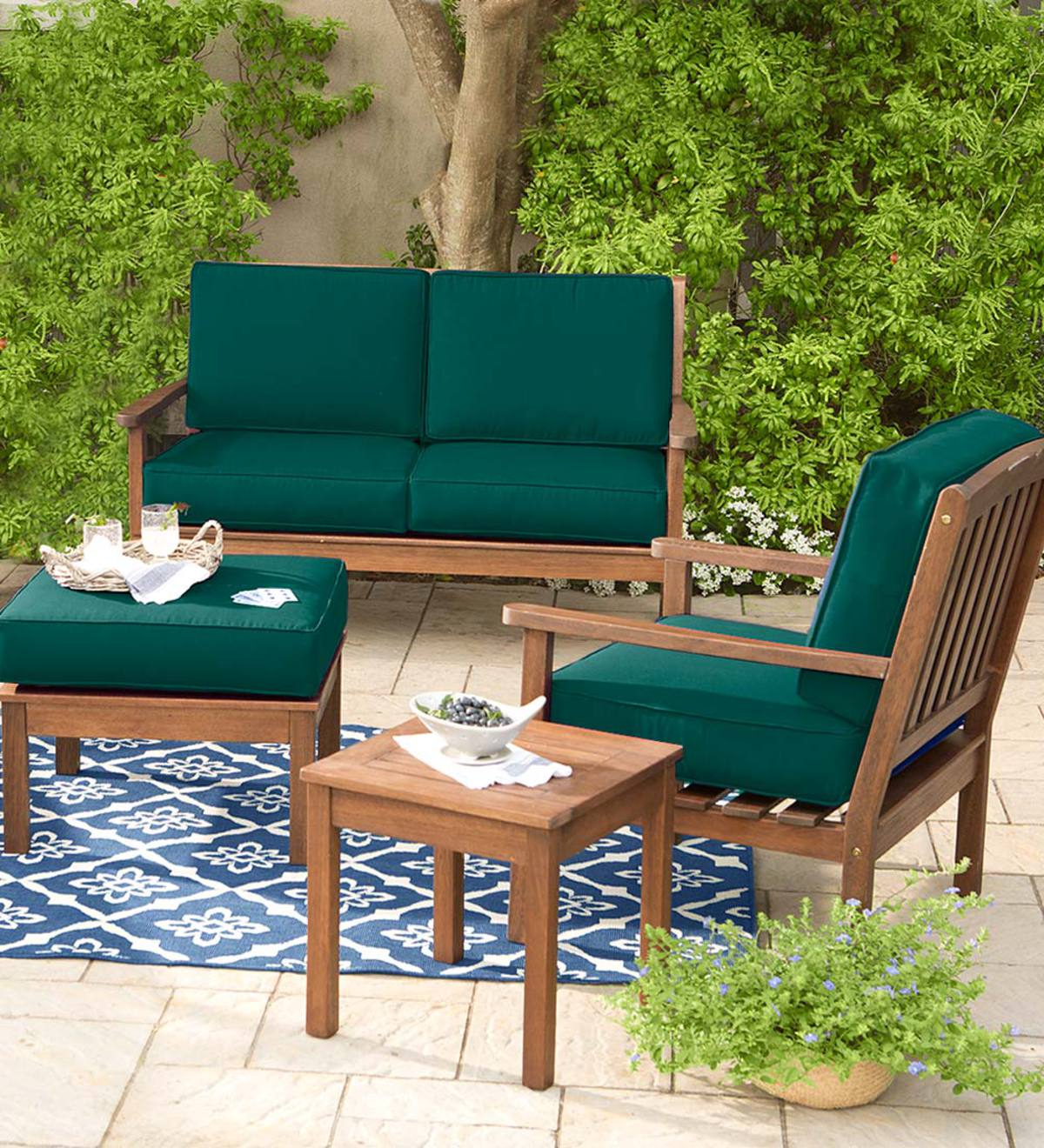 Lancaster Eucalyptus Deep Seating Love Seat with Cushions
