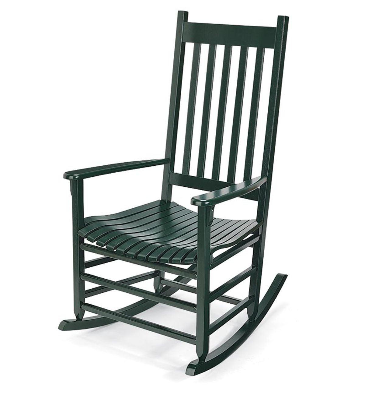 Pleasant Classic Slatted Low Maintenance Eucalyptus Rocker Green Cjindustries Chair Design For Home Cjindustriesco